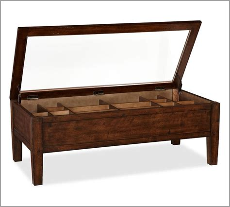 Pottery Barn Coffee Table With Drawers Pottery Barn Townsend Shadow Box Coffee Table 499