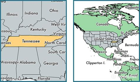 tennessee on a map of the united states where is tennessee state where is tennessee located in