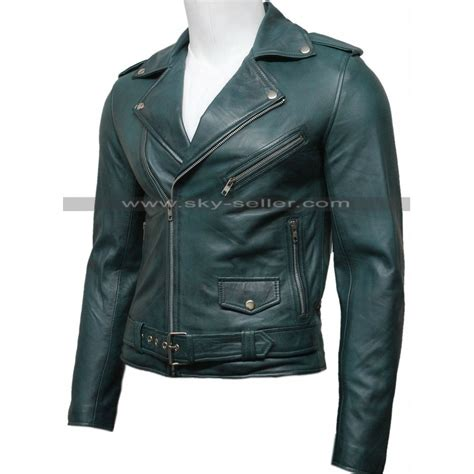 leather jacket for motorcycle s green vintage belted motorcycle leather jacket