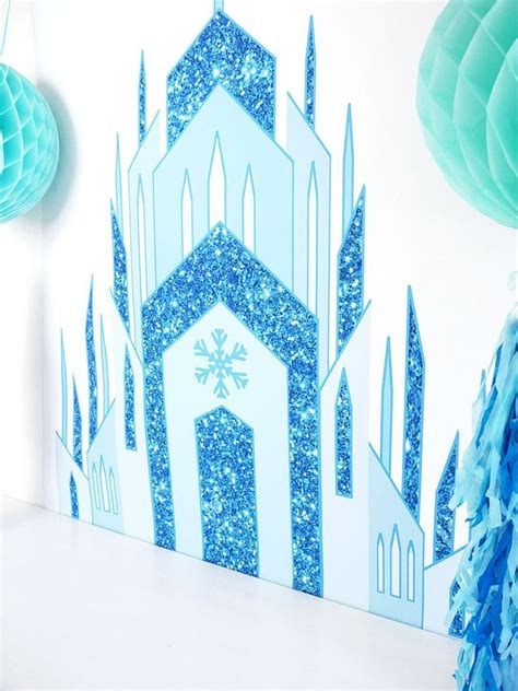ice princess castle large printable poster birdspartycom