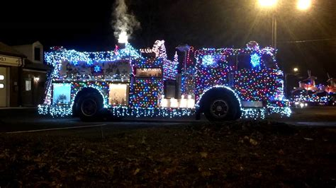 christmas lights on firetruck awesome youtube