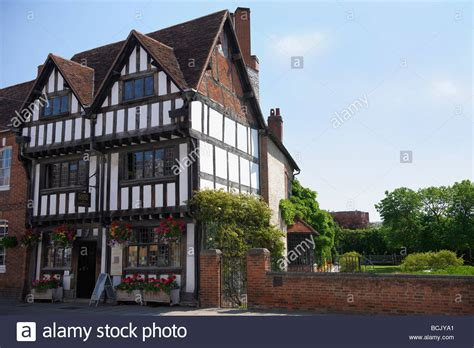 houses to buy in stratford nash house and new place gardens in stratford upon avon stock photo royalty free