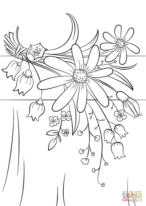 flower to color summer flowers coloring page free printable coloring pages