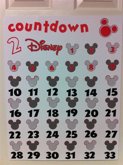 countdown calendar printable template countdown to disney printable new calendar template site