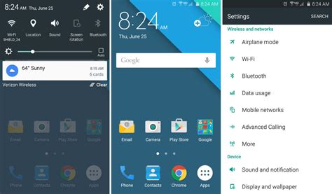 samsung themes material samsung brings material design theme to the galaxy s6 and