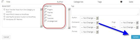 New Posts By Category by Bulk Transfer Posts From One Category To Another Better