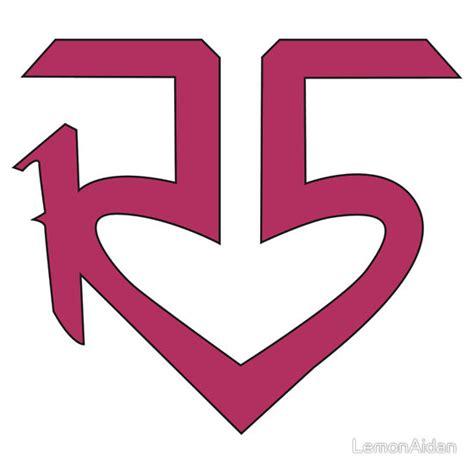 Tshirt R5 r5 logo t shirt iron on transfer t shirt iron on