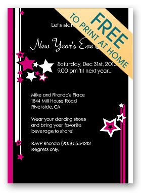 make free printable christmas party invitations holiday