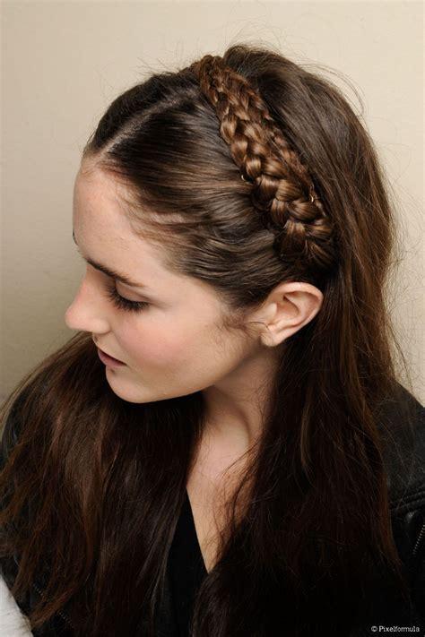 headband hairstyles for long hair easy headband braid tutorial for long hair