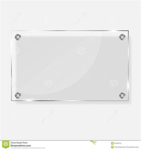 realistic glass frames vector illustration stock vector