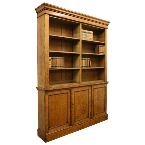 oak open bookcase 356103 sellingantiques co uk