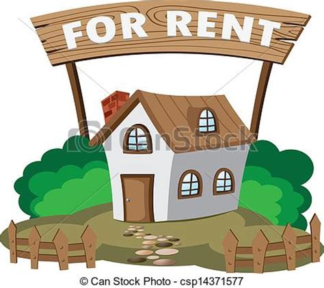rent a house com vectors illustration of house for rent illustration of