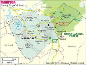 map of mariposa county california gold fever prospecting october 2011