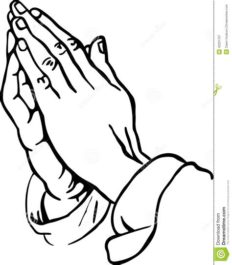 praying hands stock illustration image of sketch hands