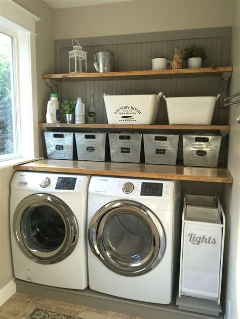 bathroom laundry bins laundry room makeover wood counters walmart tin totes