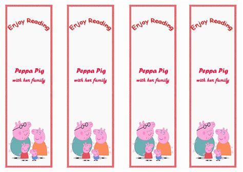 printable birthday bookmarks peppa pig bookmarks birthday printable
