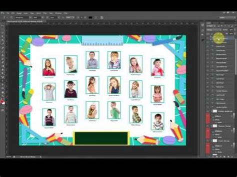 photo composite template creating a class composite in a minute