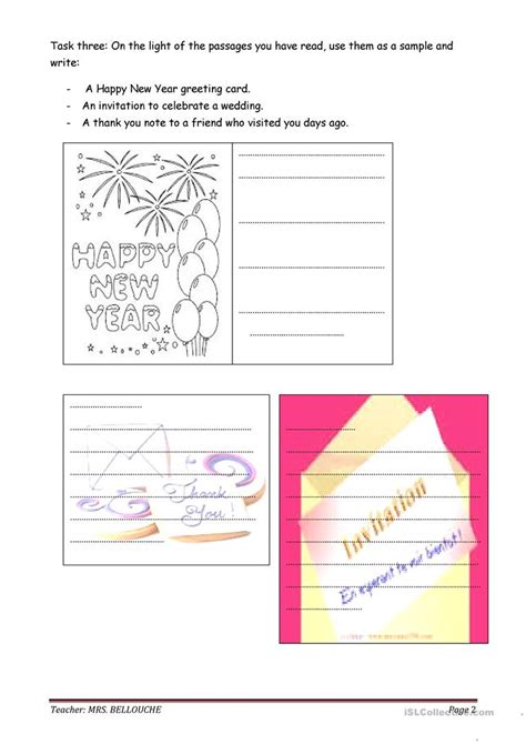 Thank You Letter Worksheet Writing Greeting Card Invitations And Thank You Note