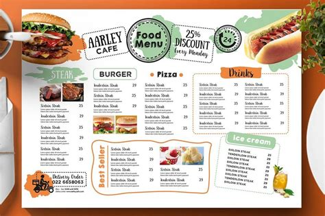 50 Best Food Drink Menu Templates Design Shack Best Food Templates