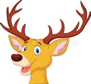 vector illustration of cute deer head cartoon stock