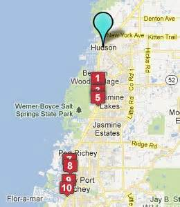 hudson florida map hotels motels near hudson fl see all discounts