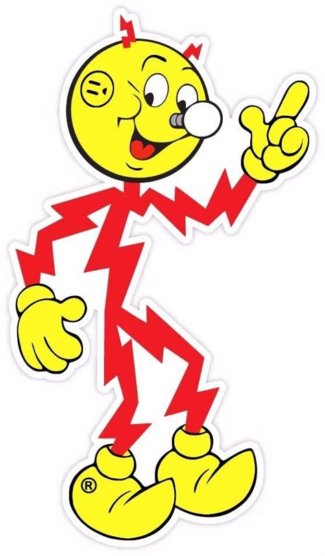 Reddy Kilowatt L reddy kilowatt vintage vinyl sticker decal ebay