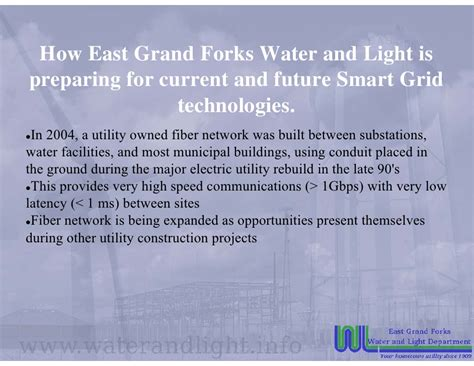East Grand Forks Water And Light by Smart Grid Technology Use At East Grand Forks Water And Light