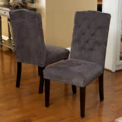 Grey Tufted Dining Chair Clark Grey Fabric Tufted Dining Chairs Set Of 2 Great Deal Furniture