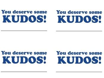 kudos card template kudos cards template by success in the classroom tpt