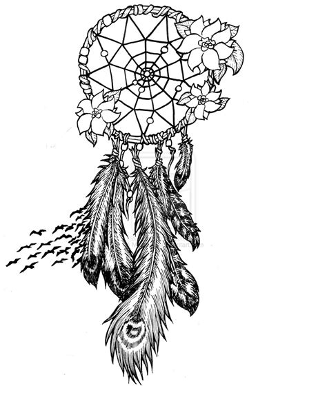 dreamcatcher tattoo black and white dream catcher tattoo images designs
