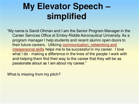 Example Of Resume For Engineering by Perfect Your Pitch Using An Elevator Speech To Impress