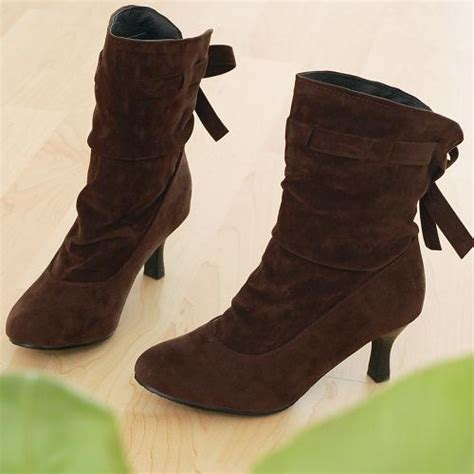 winter pointed toe back lace up stiletto high heel brown