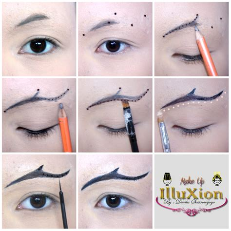 tutorial membentuk alis lurus tutorial makeup membuat alis paes ageng create eyebrow