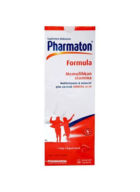 Pharmaton Formula Isi 5 Kapsul pharmaton forml tablet multivit mnrl ek gnseng g115 str 5s