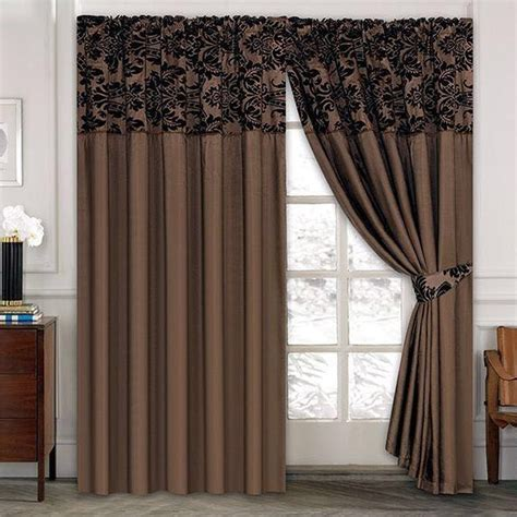 Half Window Curtains Luxury Damask Curtains Pair Of Half Flock Pencil Pleat Window Curtain Ebay