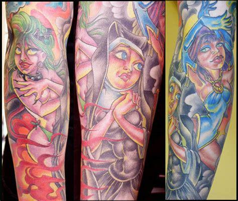 good vs evil tattoo sleeve evil lawas