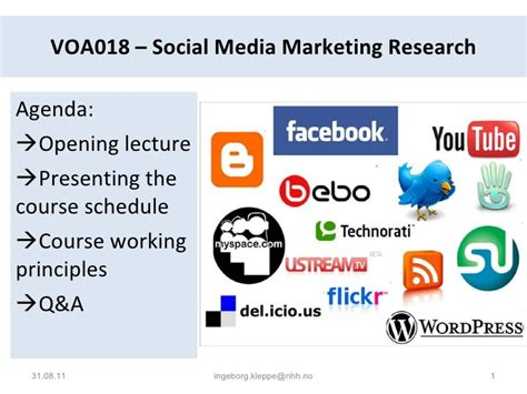 thesis topics social media marketing nhh social media marketing research opening lecture