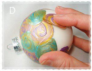 what size ornament is needed to make a handprint snowman ornament easy to make ornaments painted swirl ornament