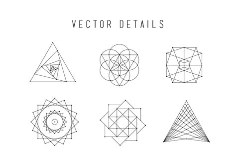 vector geometry tutorial skybox creative 187 sacred geometry vector illustrations vol 2