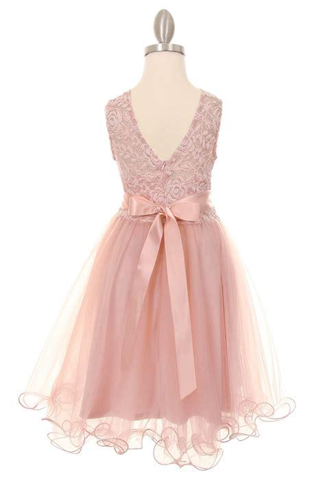 13492 Blue Pink Flower Dress pink flower dresses bridesmaid dresses