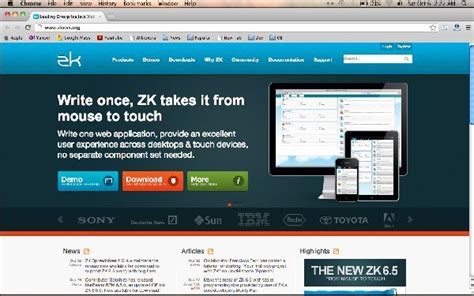 layout zk framework extend your development of web applications with zk ajax