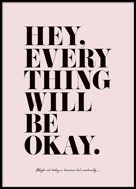 It Will Be Ok everything will be okay poster