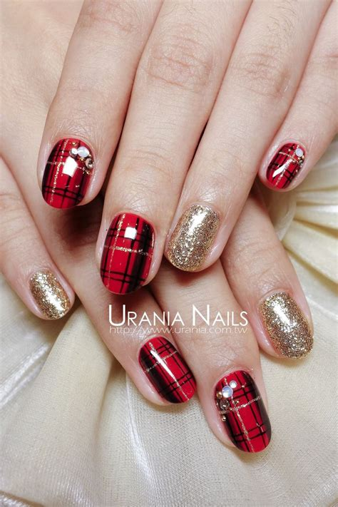 plaid pattern nails 119 best nails plaids images on pinterest checkered