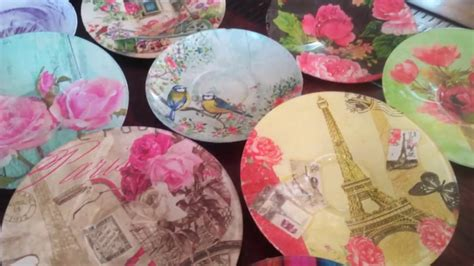 Decoupage Tissue Paper Glass - diy upcycle decoupage modpodge glass plates saucers with