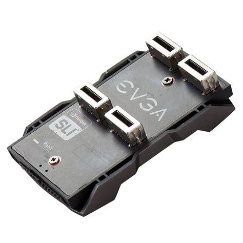 Evga Sli Bridge Pro 2 Way 1 Slot Spacing 3 Way 2 Slot Spacing evga products evga pro sli bridge hb 0 slot spacing led with 4 preset colors 100 2w 0025