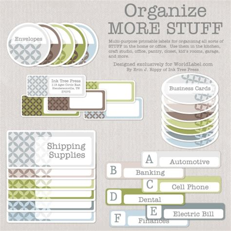 organizing labels office labels and productivity printables