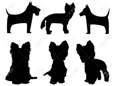 dog silhouette tattoo yorkie terrier outline of search ideas