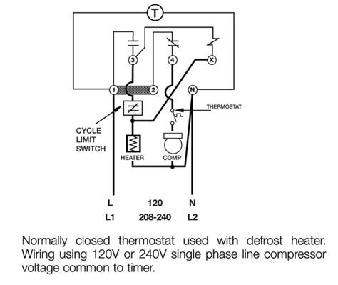 freezer defrost timer wiring diagram walk in cooler