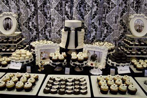 Black And White Dessert Table dessert table luxury wedding