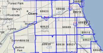 Chicago Zipcode Map by T Mc Map Help